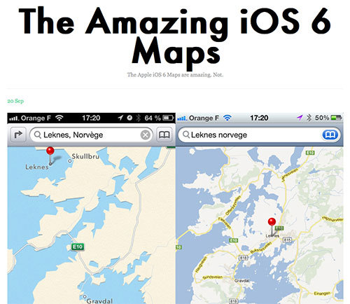 The Amazing iOS6 Maps