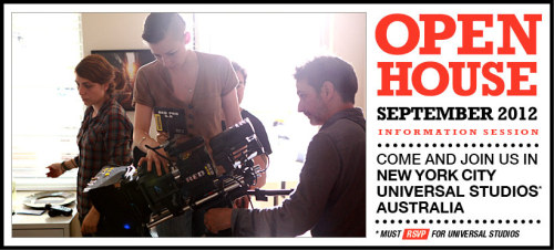 Interested in learning more about New York Film Academy's hands-on intensive programs? Well, we'd love to meet you! Come and join us for our September Open House this weekend in New York City, Universal Studios, and Australia!