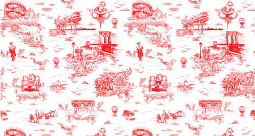 Brooklyn inspired toile wallpaper
