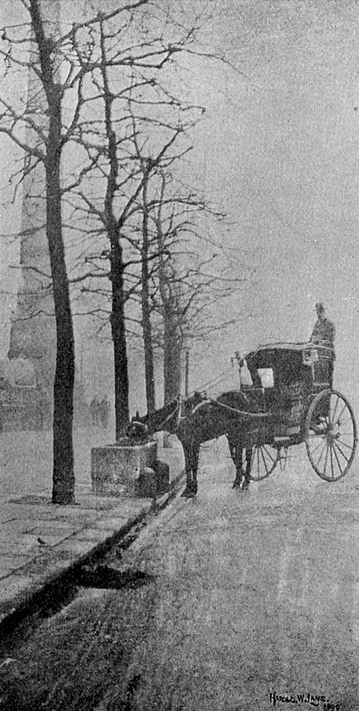 firsttimeuser:  A November Morning - the Embankment, 1899 by Harold W. Lane