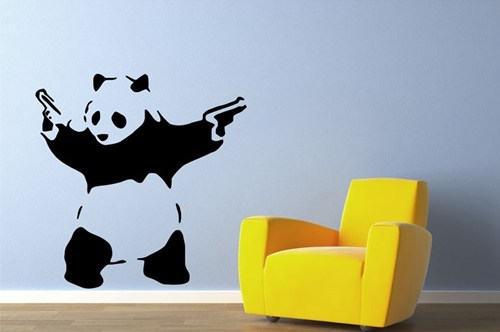 Banksy At Home of the Day: Giant vinyl wall decals of the street artist's most iconic creations now can be had for just $25 — this week only, via Living Social. [rsvlts]