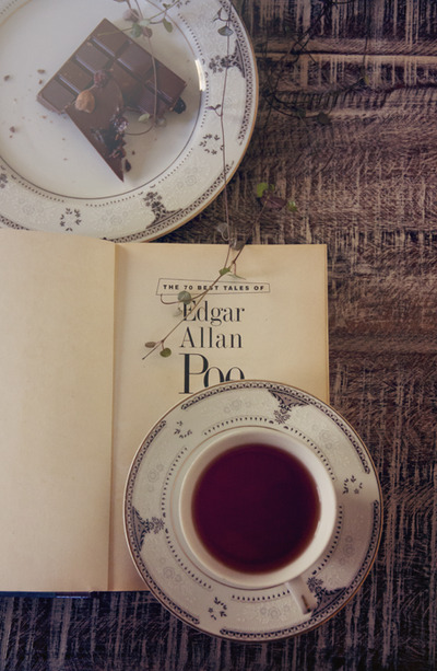 divine-despair:  Poe and Chrysanthemum Tea (by Anina-Bird)