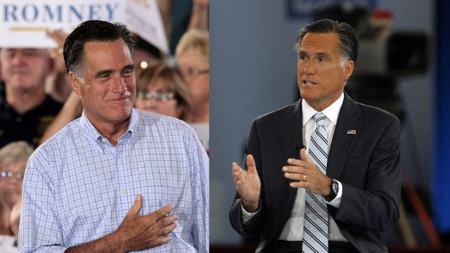 "think4yourself:  election:  whatiremembered:  Mitt Romney & Mitt Romney in brown face for Univision. Congratulations, you are now as racist as Peter Sellers. Next you should come out with a campaign ad on BET where you wear gold fronts and a fitted and rap in a perfect quarter note rhythm.  Wow, this actually happened. HuffPo reports: ""One viewer pointed out on YouTube the difference in colour between his hands and his face, saying: 'Only 47% of him is brown.'"" Here's another comparison photo:  Somebody got fired. — Bonnie  he really didn't do this…did he?   wait. wait. no."