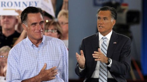 "mohandasgandhi:  badcgijosh:  inothernews:  election:  whatiremembered:  Mitt Romney & Mitt Romney in brown face for Univision. Congratulations, you are now as racist as Peter Sellers. Next you should come out with a campaign ad on BET where you wear gold fronts and a fitted and rap in a perfect quarter note rhythm.  Wow, this actually happened. HuffPo reports: ""One viewer pointed out on YouTube the difference in colour between his hands and his face, saying: 'Only 47% of him is brown.'"" Here's another comparison photo:  Somebody got fired. — Bonnie  Ugh.  I should be offended but this is so fucking funny oh my god what a sad man  Mitt Romney believes Hispanic/Latin@-Americans will be more likely to vote for him if he's darker? This is offensive and insulting in 150 different ways but before we get into any explanation as to why, excuse me, I need to go laugh for 20 minutes straight."