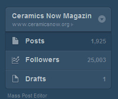 Ceramics Now Magazine hits 25000 followers on Tumblr