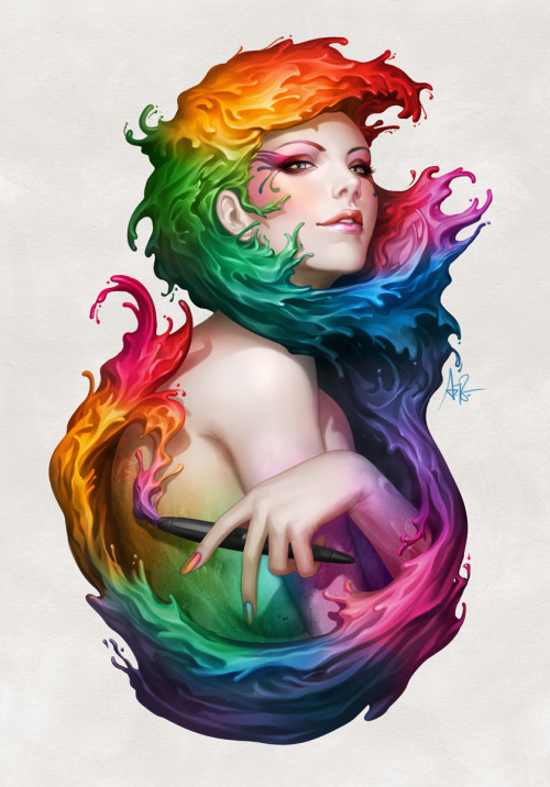 A.M. Inspiration  Angel of Colors by Artgerm