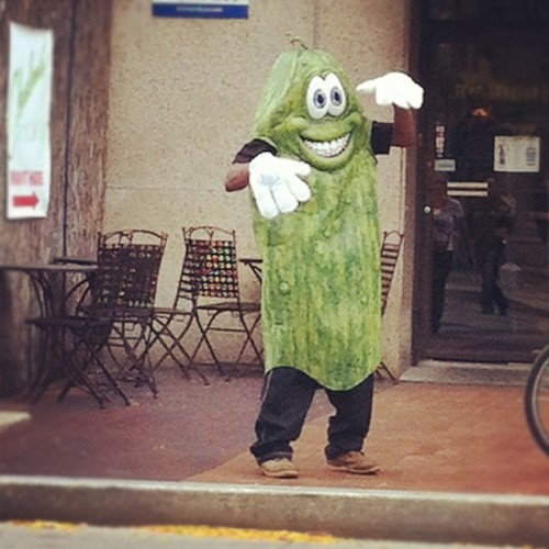 Yes the #clevelandpickle out on the street! Love #cleveland!  (Taken with Instagram)