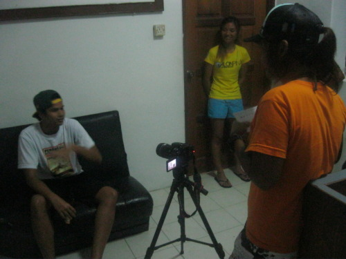 me interviewing Affiq