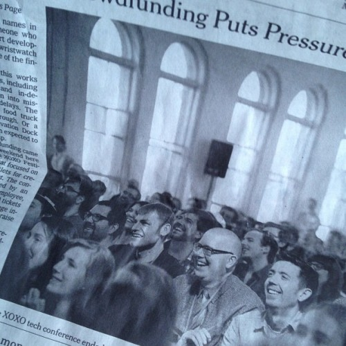 Just noticed this pic from Tues' @NYTimes - there's something familiar about it /cc @adrianholovaty @hellbox #xoxoxonf (Taken with Instagram)