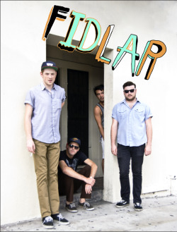 FIDLAR shot by Albert Roman for Issue Three of 1.21 Gigawatts. Illustration by Brandon Elijah Johnson