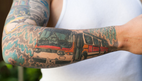 Today's sign of the apocalypse: MUNI TATTOOS… (via Inked - The Bold Italic - San Francisco)