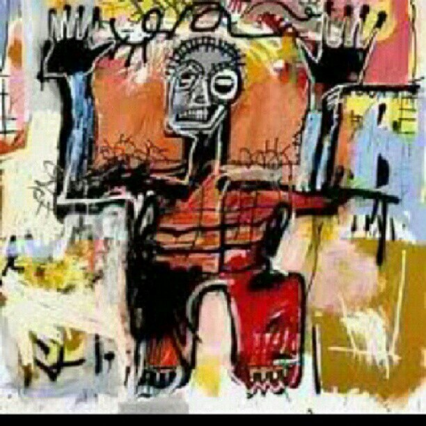 #Basquait is becoming my favorite artist as Im discovering more and more about him! #Art  (Taken with Instagram)