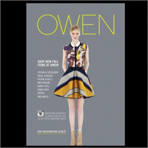 Full Fall Collections at @owennyc #ostwaldhelgason #antipodium #ohnetitel #becbridge #venacava #preen (Taken with Instagram)