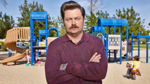 "The Pyramid of greatness.  fastcompany:  How Ron Swanson became Ron Swanson.  My first meeting with Mike Schur, one of the two creators, about Ron Swanson, we almost opened the meeting by saying, ""Well, this guy has a kickass mustache."" And I don't usually wear a mustache. I think Mike had once seen me at an audition forThe Office with a mustache, so that was where we started. There was a side of my demeanor—I'm not always stoic and expressionless like Ron, but sometimes I am. So I think Mike took that plainspoken, no-bullshit side of me, and liked that color a lot. They found it incredibly hilarious that someone would have a wood shop and make things out of wood for fun so they laced that into the character.  Read more->"