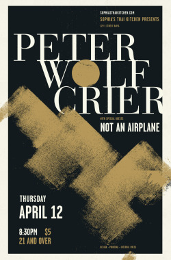 "Peter Wolf Crier 12 x 19"" Poster, Serigraph Interval Press"