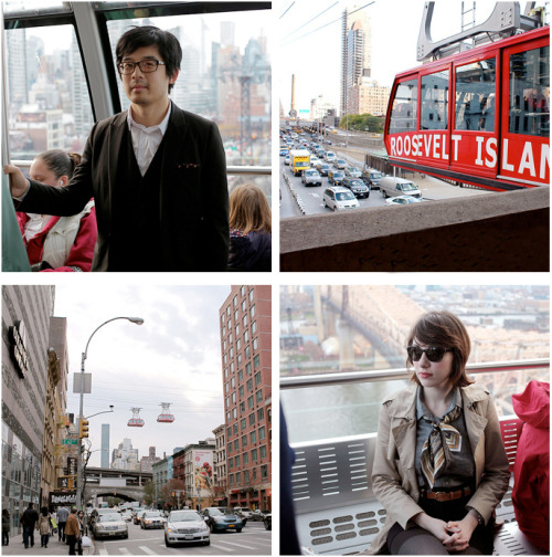 Style and intrigue on the Roosevelt Island Tramway…New York City, NY (via The SF Style)