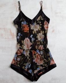 La Fee Verte Silk Gypsy Rose Romper