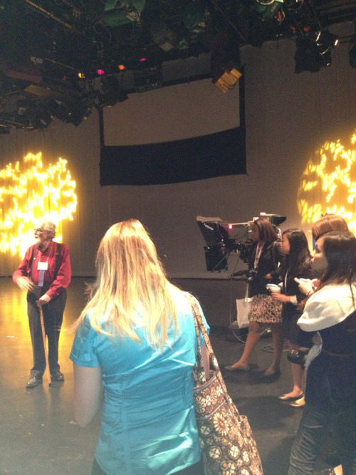 #ONA12 student journalists getting an inside look at KQED television studios