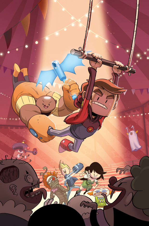 Boom revealed the covers to Bravest Warriors #3 today, so here's mine without the logo.You can read a synopsis and see the variant covers here:  http://www.comicsalliance.com/2012/09/20/bravest-warriors-3-covers-preview-art/