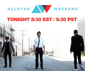 Allstar Weekend LIVE Chat! Join Allstar Weekend as they wrap up their #Crazygoodsummer with a LIVE chat on Stickam!    http://www.stickam.com/allstarweekend