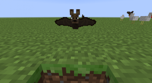 YES YES. I was just talking to someone about how I wanted a flying mob in the game and more specifically bats. YESSS. They better keep these little guys in the game even after Halloween.
