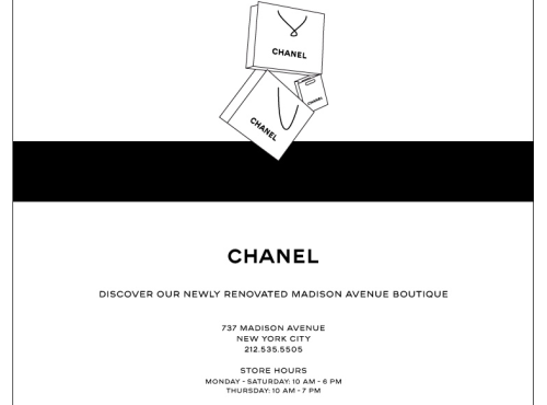 CHANEL NEWS! The office is uber excited about the opening of the newly renovated CHANEL boutique on Madison Avenue!