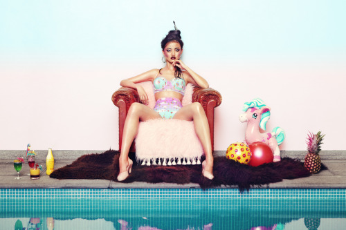 Auria x Margot Bowman swimwear SS13 www.auria-london.com twitter: @auria_london Photo credits: Photographer: Jarek Kotomski Stylist: Aaron Francis Walker Producer: Kirsten Wilson Hair: Cathy Ennis Make up: Claudine Blythman Nails: Lauren Michelle Pires Model: Vita @ Select models