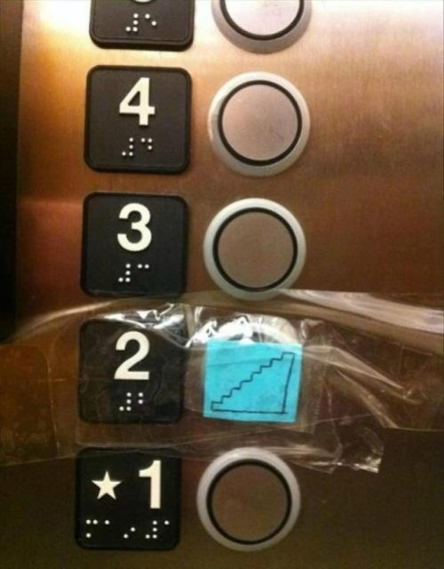 Just Take The Stairs, You Idiots That button should not even exist.