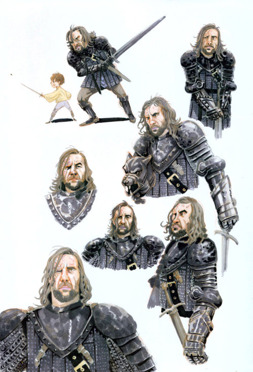 biricoccola:  (via Game of Thrones - Sandor Clegane by ~SteampunkTyki on deviantART)