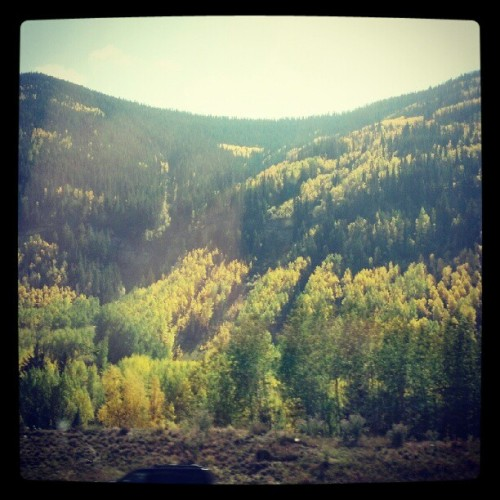 In Vail, CO to perform at the Season of Song Festival. It is gorgeous here. Wow. (Taken with Instagram)