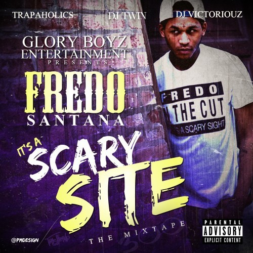 smackdahoe:  Fredo Santana - It's A Scary Site (Mixtape) GBE's Fredo Santana finally drops his debut mixtape hosted by DJ Victoriouz.  The tape features GBE members, as well as Lil Durk, King L, and a few others.  Download/Stream via LiveMixtapes