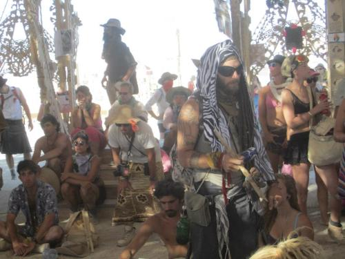 Casting sounds and spells inside The Temple of Juno in Black Rock City 2012