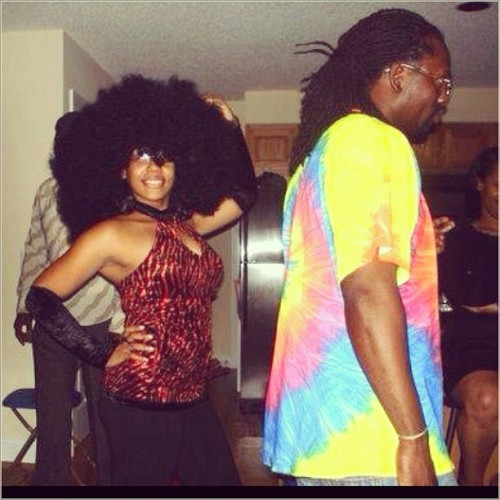 If only my real fro was as big as this wig… well maybe not that big #TBT #foxybrown (Taken with Instagram)