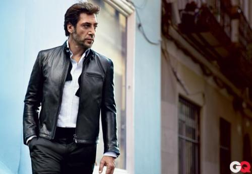 "gq:  ""I've always said I don't believe in God, I believe in Al Pacino."" - Javier Bardem  Sploosh."