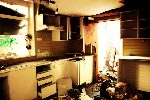Abandoned burnt down kitchen showroom V by ~QueenOfLovers