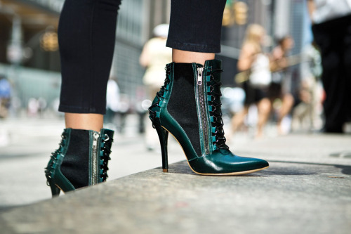 glamour:  On our boot wishlist: MLE, $179, miashoes.com