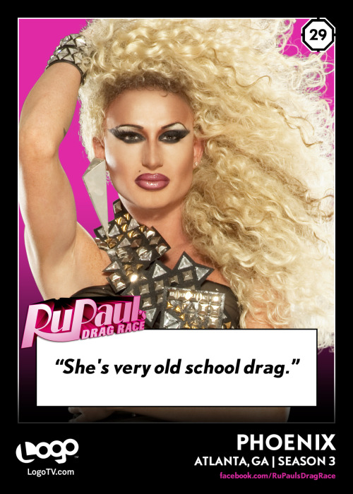 RuPaul's Drag Race TRADING CARD THURSDAY #29: Phoenix
