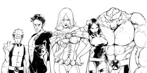 brianmichaelbendis:   the X-Men by Sara Pichelli