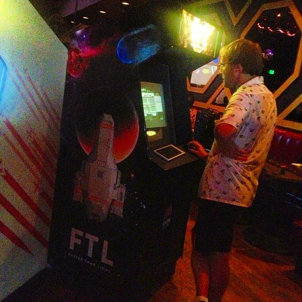 FTL arcade at #fantasticfest (Taken with Instagram)