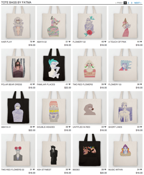 TOTE BAGS on society6! Since when?