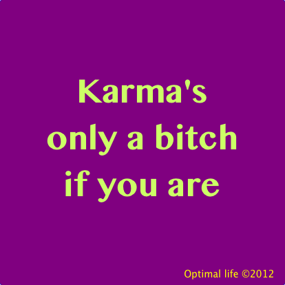 Love this humourous take on Karma :)