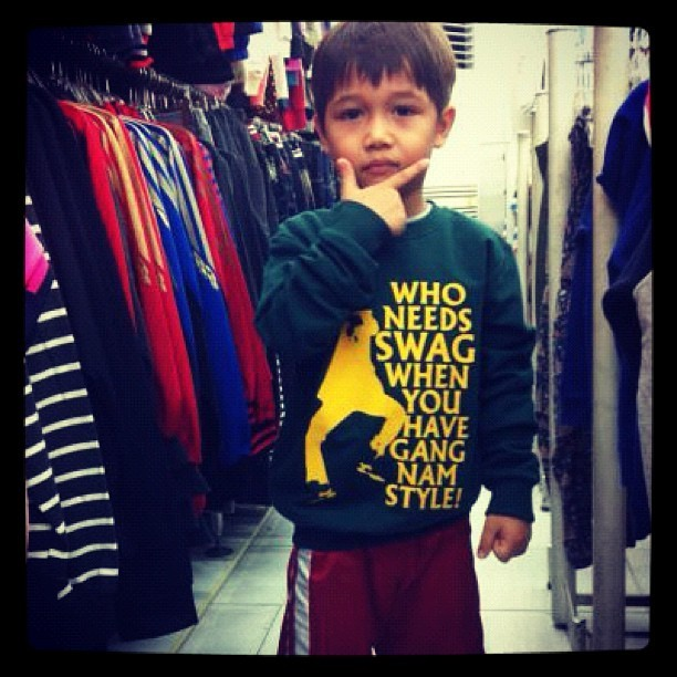 """who needs swag when you have gangnam style?"" LOL! (Taken with Instagram)"
