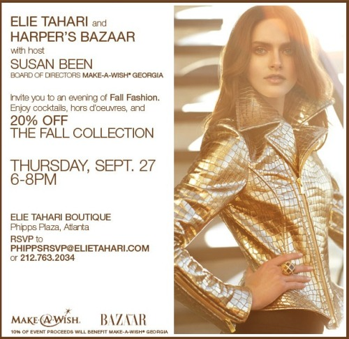 Atlanta, join us, Harper's Bazaar and Make-A-Wish.