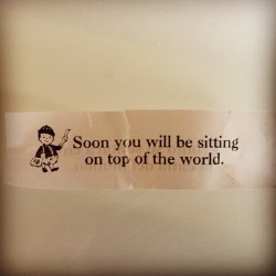 My boss's fortune today. #fortune #believe #work #music  (Taken with Instagram)