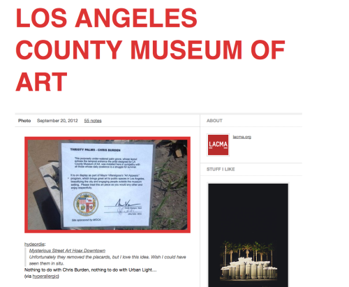 I'm going to be honest here, I think whoever runs the LACMA tumblr kind of sucks.