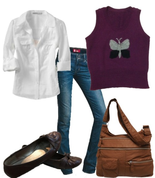 Rock the sweater vest! Cute & preppy is in for #FallFashion. Source: My stylebook app (aka my closet!)