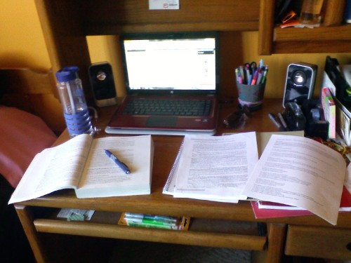 This is how my desk looks daily. :p so much work.