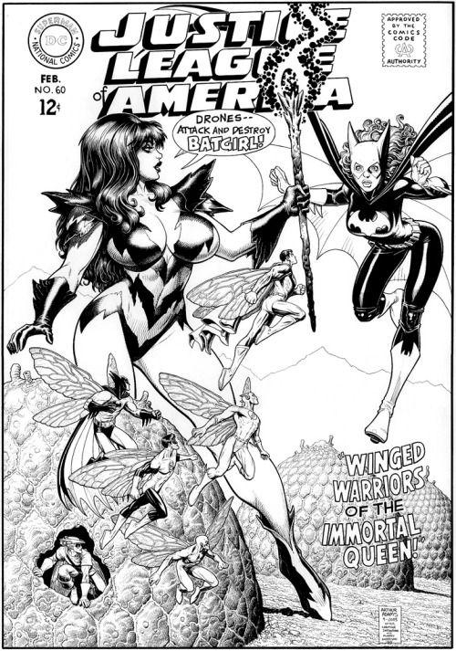 brianmichaelbendis:   Justice league of America cover recreation by Arthur Adams