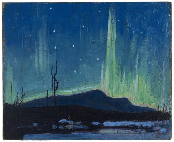 cavetocanvas:  Tom Thomson, Northern Lights, 1917