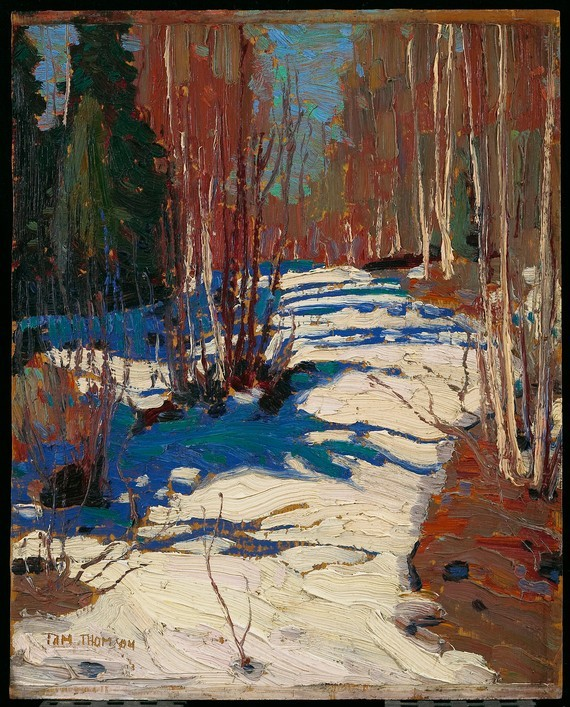 cavetocanvas:  Tom Thomson, Path Behind Mowat Lodge, 1917